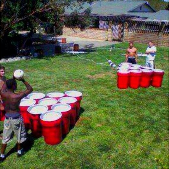 life size beer pong paint trashcans red for giant solo cups and