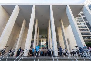 Main entrance to Masonic Center