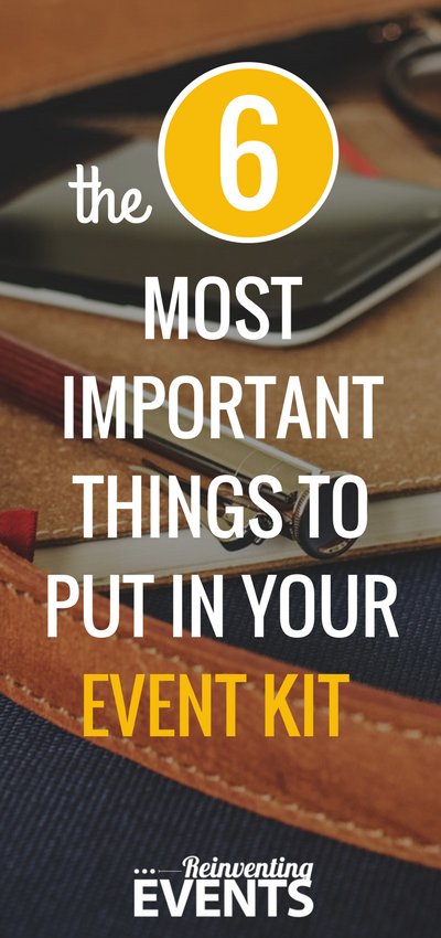 Event coordinators have a number of things 'up their sleeves' that make them great at what they do, but the biggest one could indeed be an event kit.