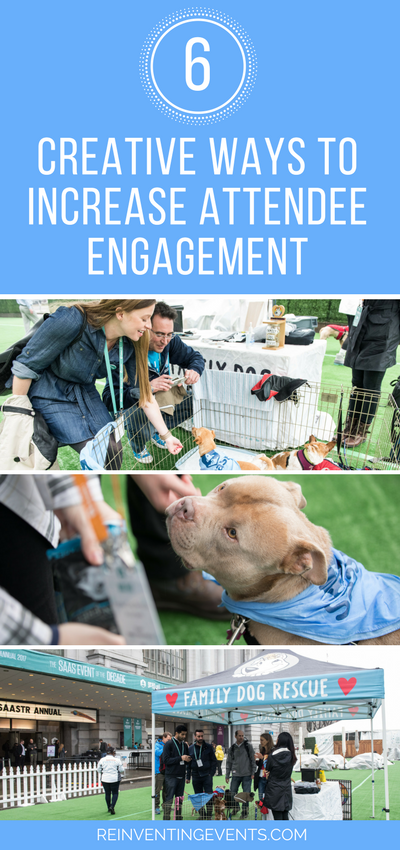 http://reinventingevents.com/2017/09/increase-attendee-engagement/ ‎ There are many ways to increase attendee engagement and a wide variety of things you can do. This list is a small overview of our favorite creative methods.